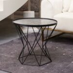 art leon small round end table modern glass top metal frame accent the stylish talbe just right for you which can meet most contemporary decor style this gorgerous placed not teak 150x150