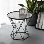art leon small round end table modern glass top metal frame triangle accent the stylish talbe just right for you which can meet most contemporary decor style this gorgerous placed 150x150