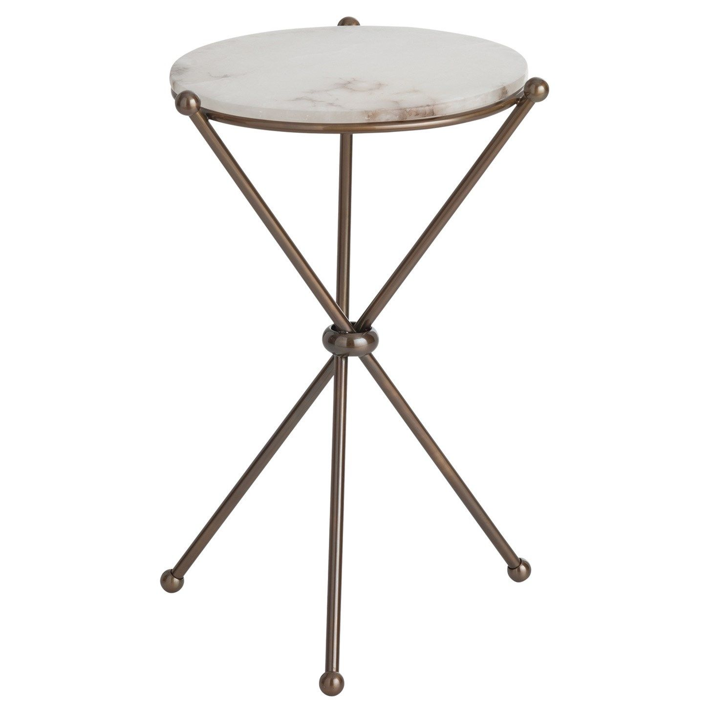 arteriors chloe antique brass marble accent table haunts homes small kmart kids coffee runner inexpensive lamps ceramic end stool hammered copper top tables black dining set