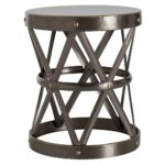 arteriors ello dark brass hammered metal open accent side table product large kathy kuo home iron company white patio bedside chest ceramic outdoor end tables lobby furniture 150x150