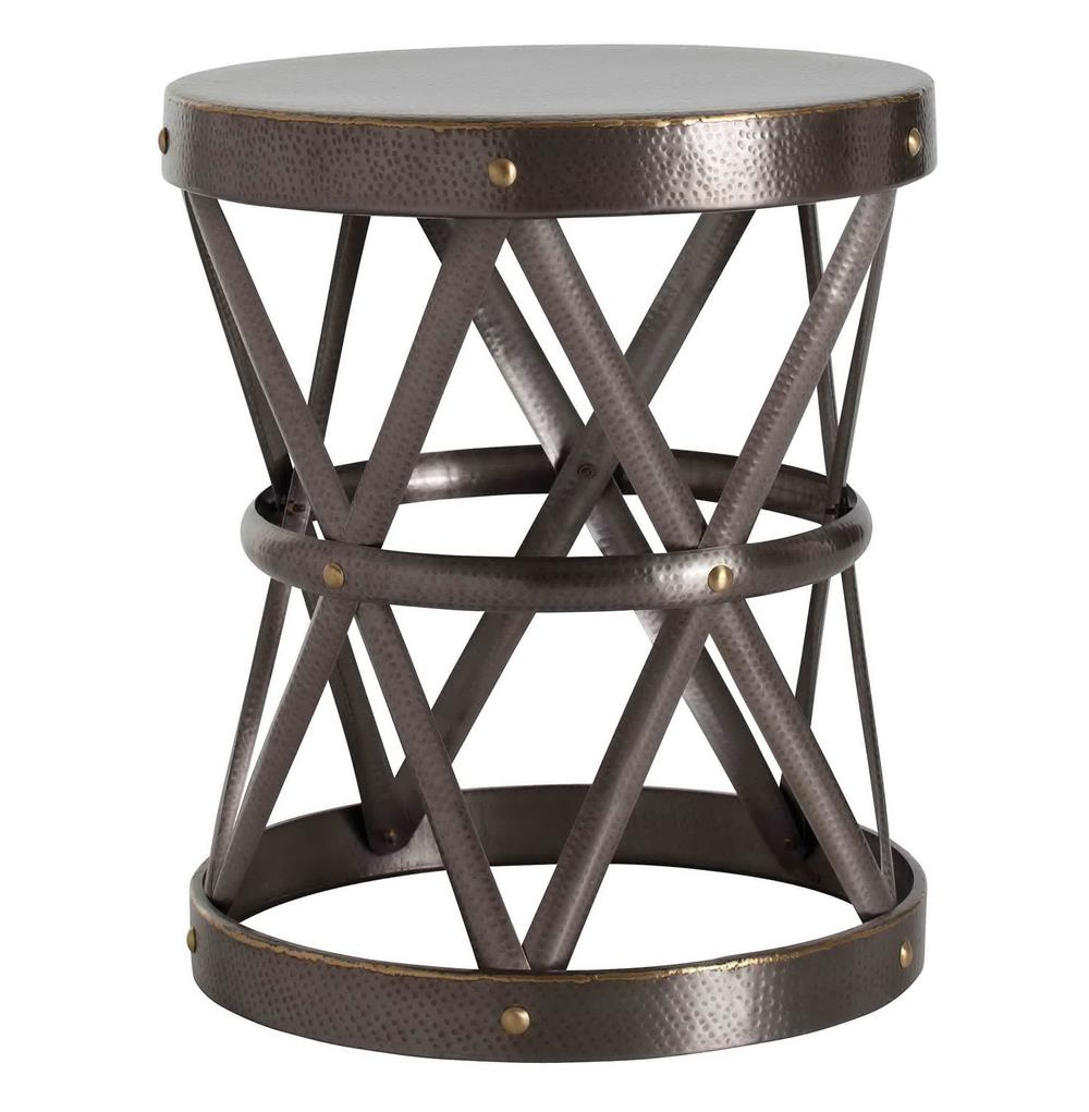 arteriors ello dark brass hammered metal open accent side table product large kathy kuo home iron company white patio bedside chest ceramic outdoor end tables lobby furniture
