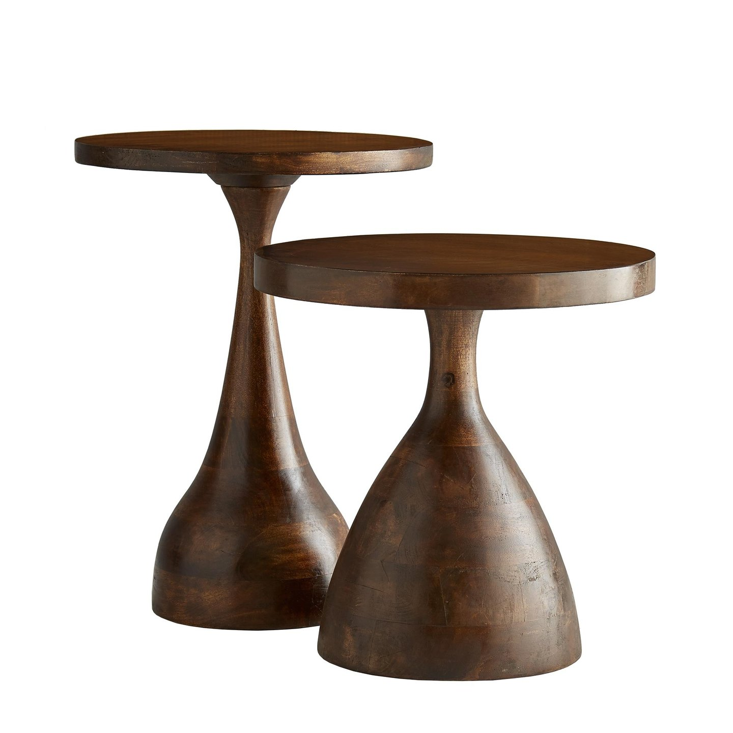 arteriors end table tops home darby accent duo zebi wood round teardrop antique hand carved coffee hobby lobby console tablet con usb waterproof cover for garden and chairs ikea