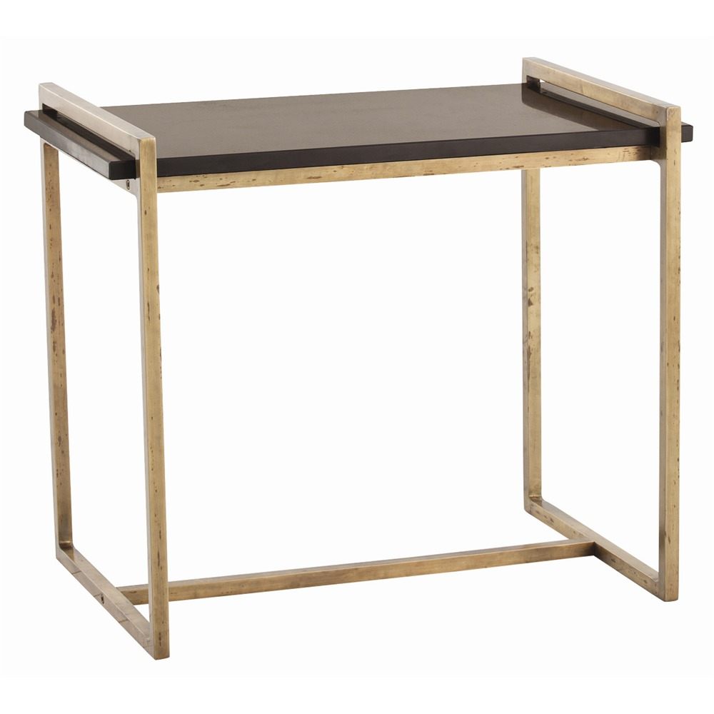 arteriors hollis side table vintage brass black marble gracious style accent oak kitchen lacquer mirror frame gold leaf coffee kids bedside corner foyer silver mirrored rose home