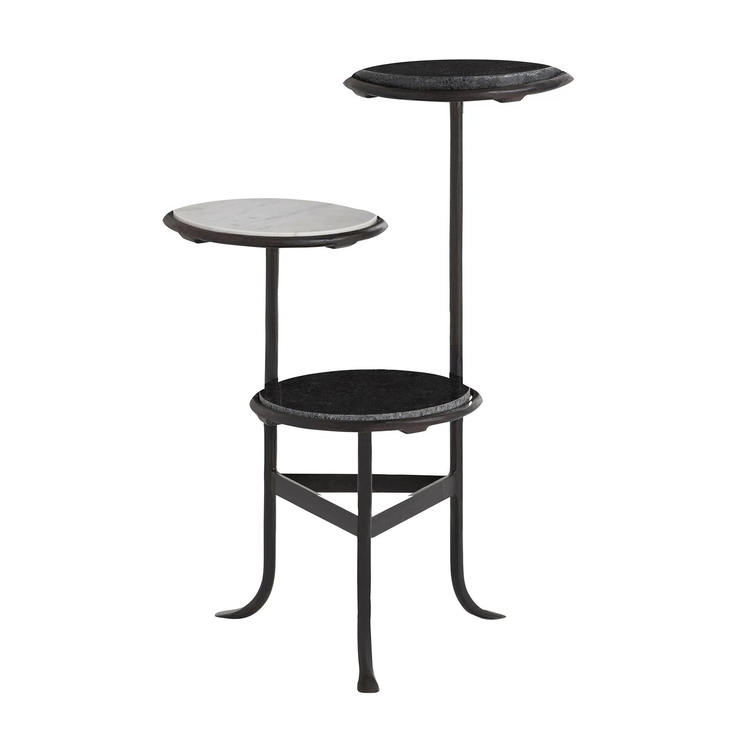 arteriors home hubert accent table hurbert hammered metal iron round oak side cabinet paint tablette prix purchase linens tall outdoor pier aluminum patio furniture leick corner