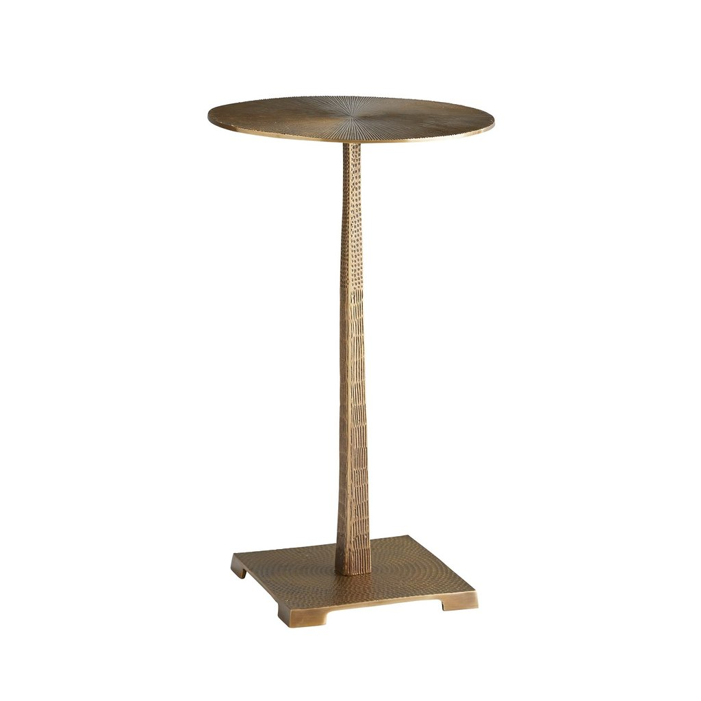 arteriors home otelia accent table vintage brass outdoor umbrella bistro garden furniture granite cocktail boat lamp mortar and pestle target futon mattress counter height legs