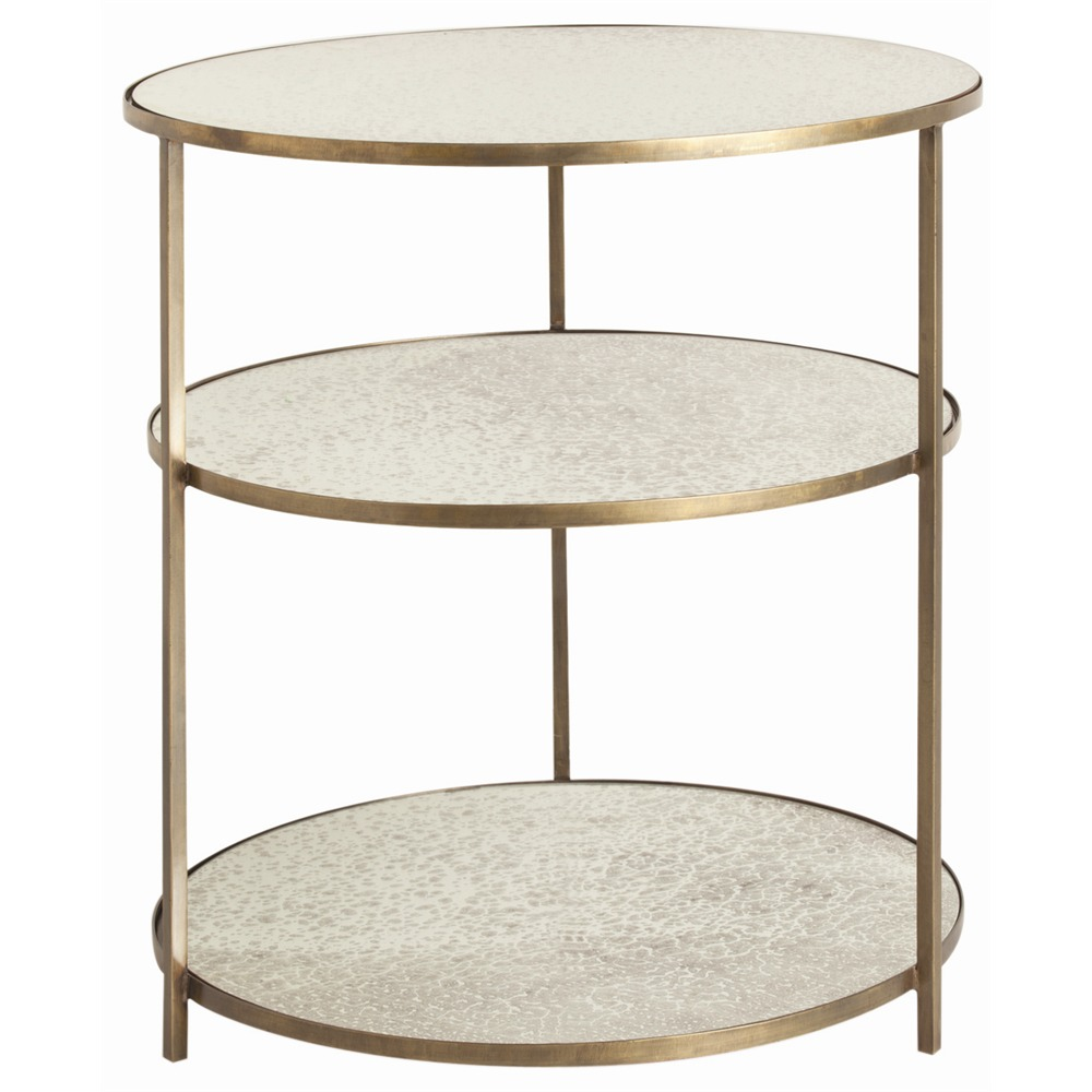 arteriors percy side table antique brass antiqued mirror gracious accent shelf style oriental lamps flannel backed vinyl tablecloth bar dining room essentials small round metal