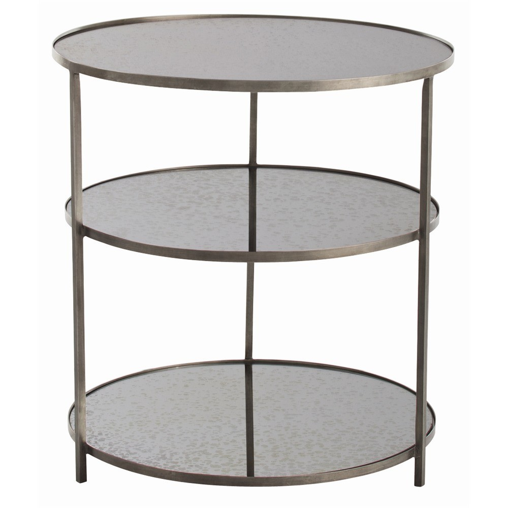 arteriors percy side table zinc decor interiors accent quickship marine style lighting dale tiffany hand painted lamps canvas patio furniture covers round cloth fire pit and
