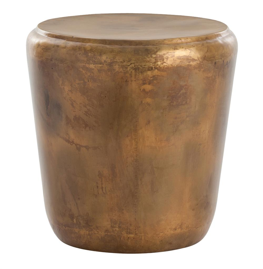 arteriors santiago modern burnished brass drum side end table product accent kathy kuo home furniture for small spaces winsome pier white wicker black and gold folding garden