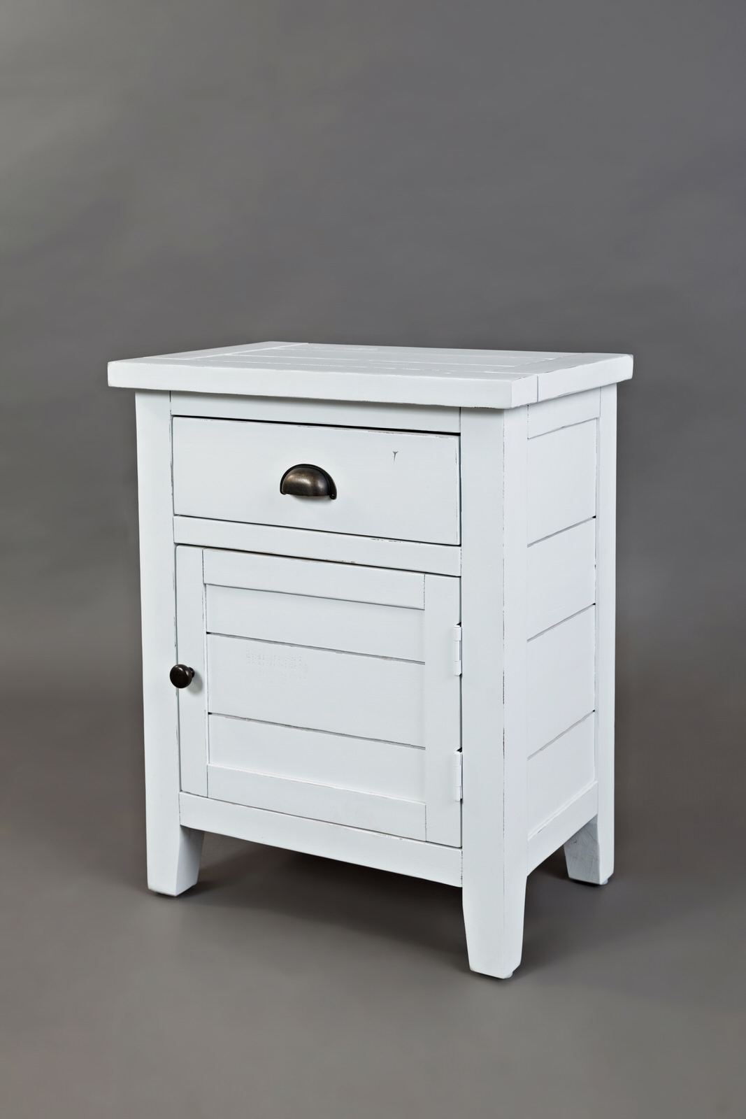 artisan craft weathered white accent table jofran furniture with drawers wrought iron wood coffee black bar unique cabinets small cherry side house and home decorating marble