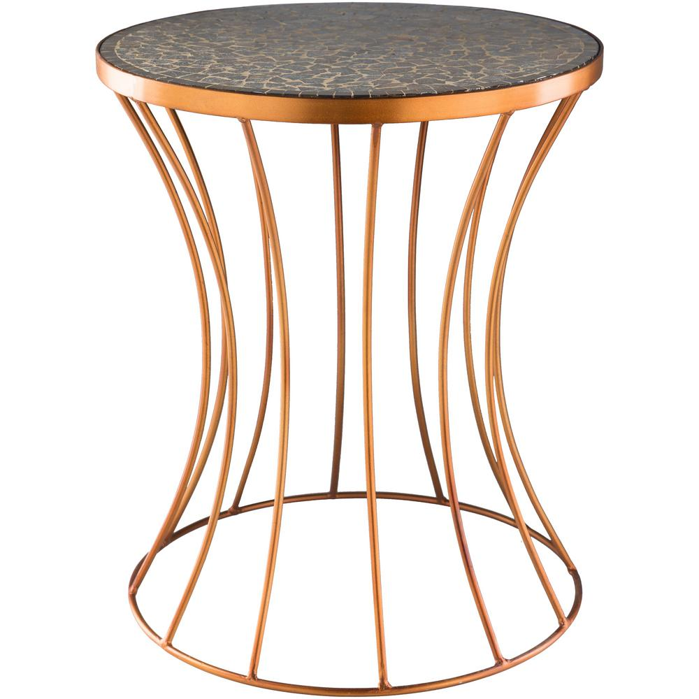 artistic weavers ounto copper accent table drum hourglass side with marble grey wash wood coffee drawer mirrored bedside art deco armchair white porch home decor pineapple beach