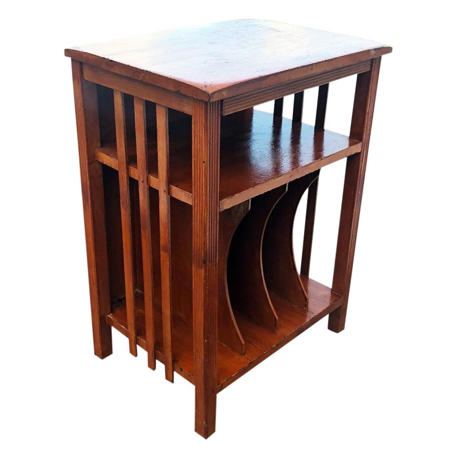 arts crafts walnut vinyl record cabinet accent table chairish and bar height breakfast wooden floorboards end tables small space living furniture designer round tablecloths