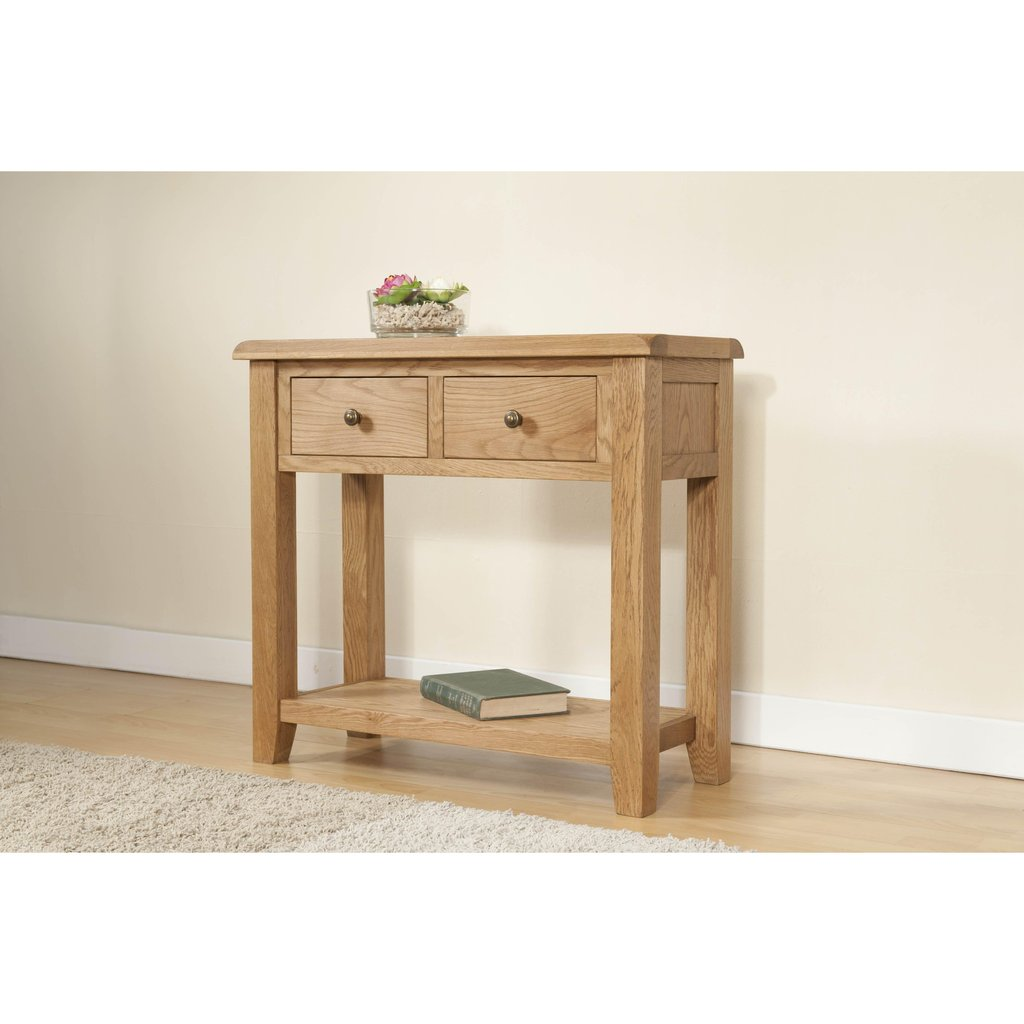 ascot rustic solid oak console table with drawers for storage tables and accent retro furniture pier one imports slim jcpenney quilts mirror side bedroom entry benches monarch