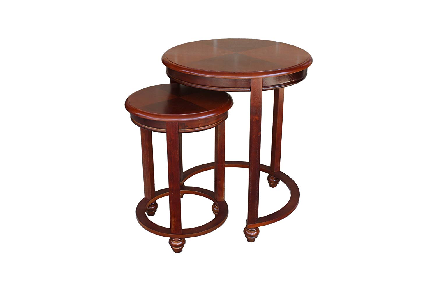 asheville light cherry round nested table set winsome wood cassie accent with glass top cappuccino finish kitchen dining blue end garden furniture chairs target vanity wine rack