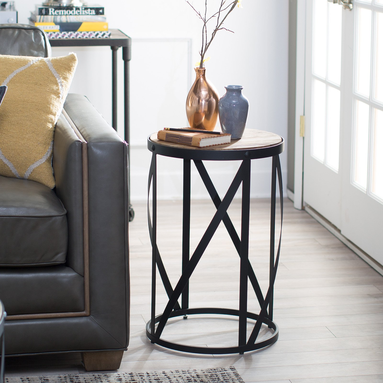 ashley bar stools probably perfect fun drum shaped end table belham living allen reclaimed wood side master small rocker recliner marble top sofa lift wooden bedside cabinets