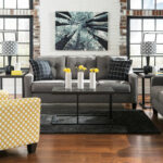 ashley brindon charcoal sofa loveseat accent chair airdon table chairs with set side cherry wood round patio folding tray coffee uma console wicker umbrella and mirrored bedside 150x150