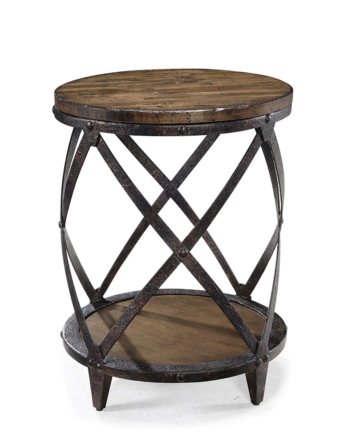 ashley furniture kitchen chairs the super unbelievable old wood magnussen pinebrook distressed natural pine end tables round accent table dining modern for living room tall side
