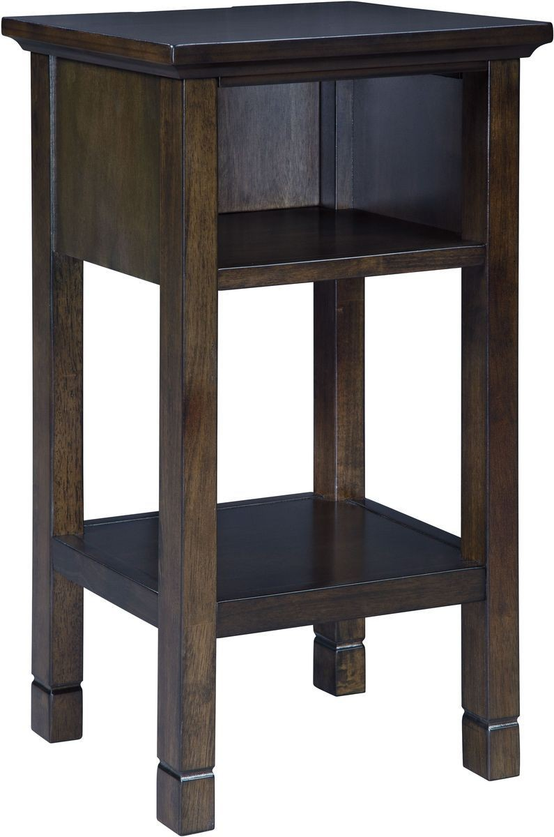 ashley furniture marnville accent table dark brown local tables lamp with storage counter height dining set rustic half moon thin foyer small trestle kitchen long nic bunnings