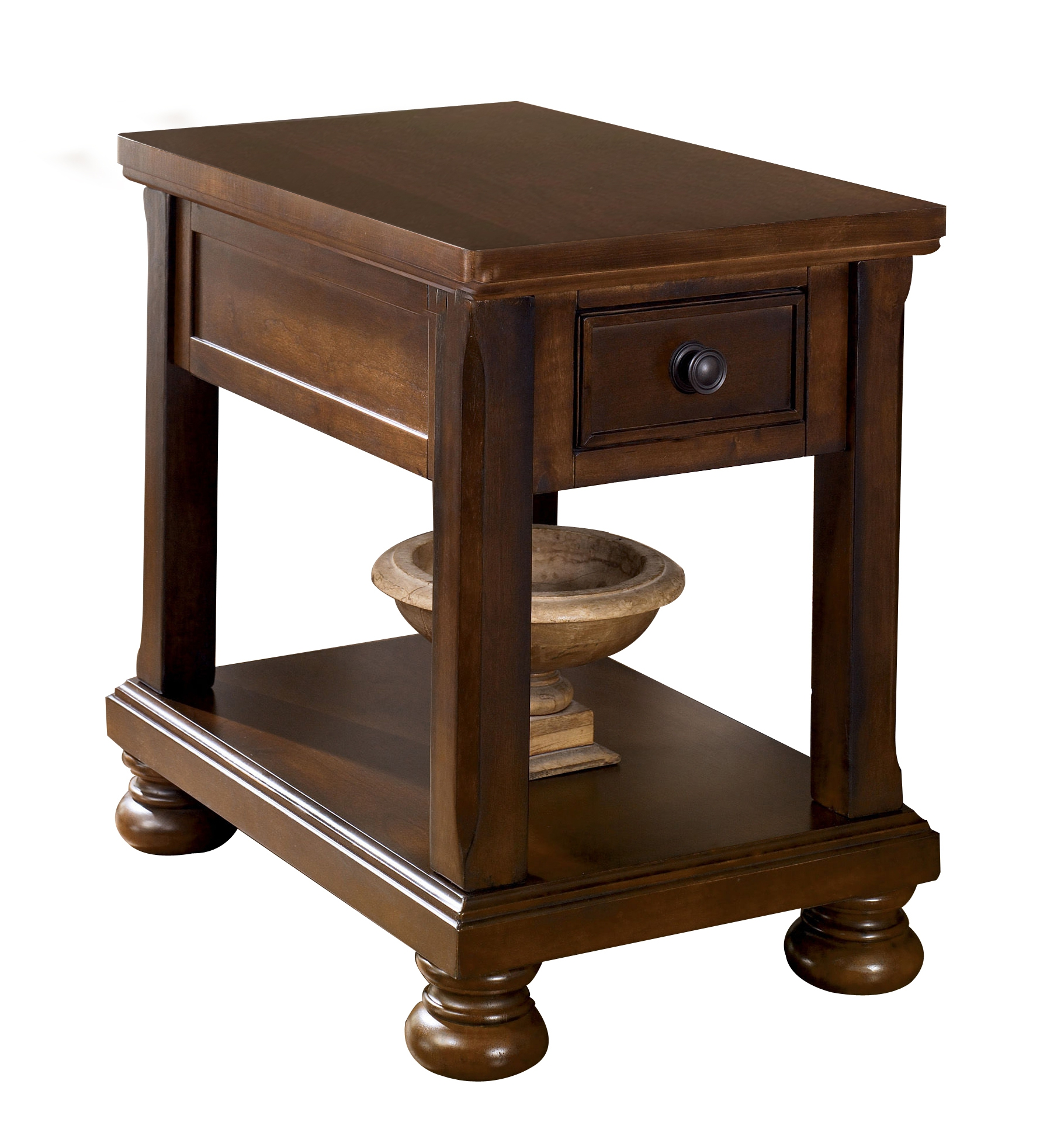 ashley furniture porter brown chair side table the classy home wbg accent tables click enlarge dining design long trestle counter height set oriental lamp shade mirrored