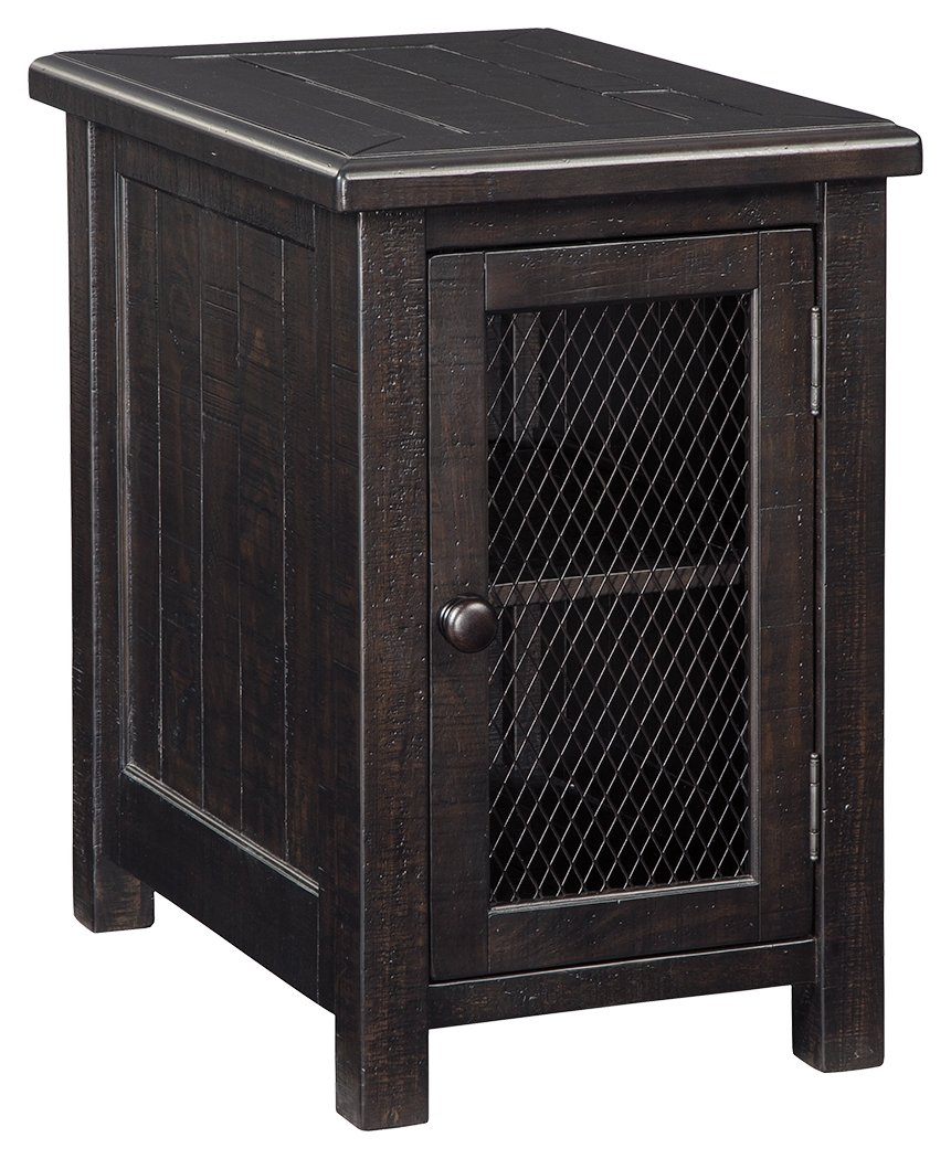 ashley furniture signature design sharlowe casual wood anton accent table chair side end with cabinet storage charcoal kitchen dining pottery barn pedestal bamboo bedroom futon