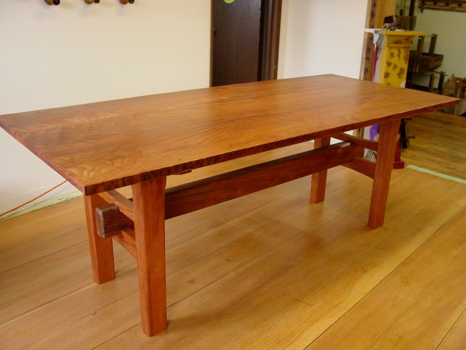 asian inspired dining tables custommade ese accent table redwood with joinery club chair counter high kitchen carpet door threshold baroque nautical side metal bench legs