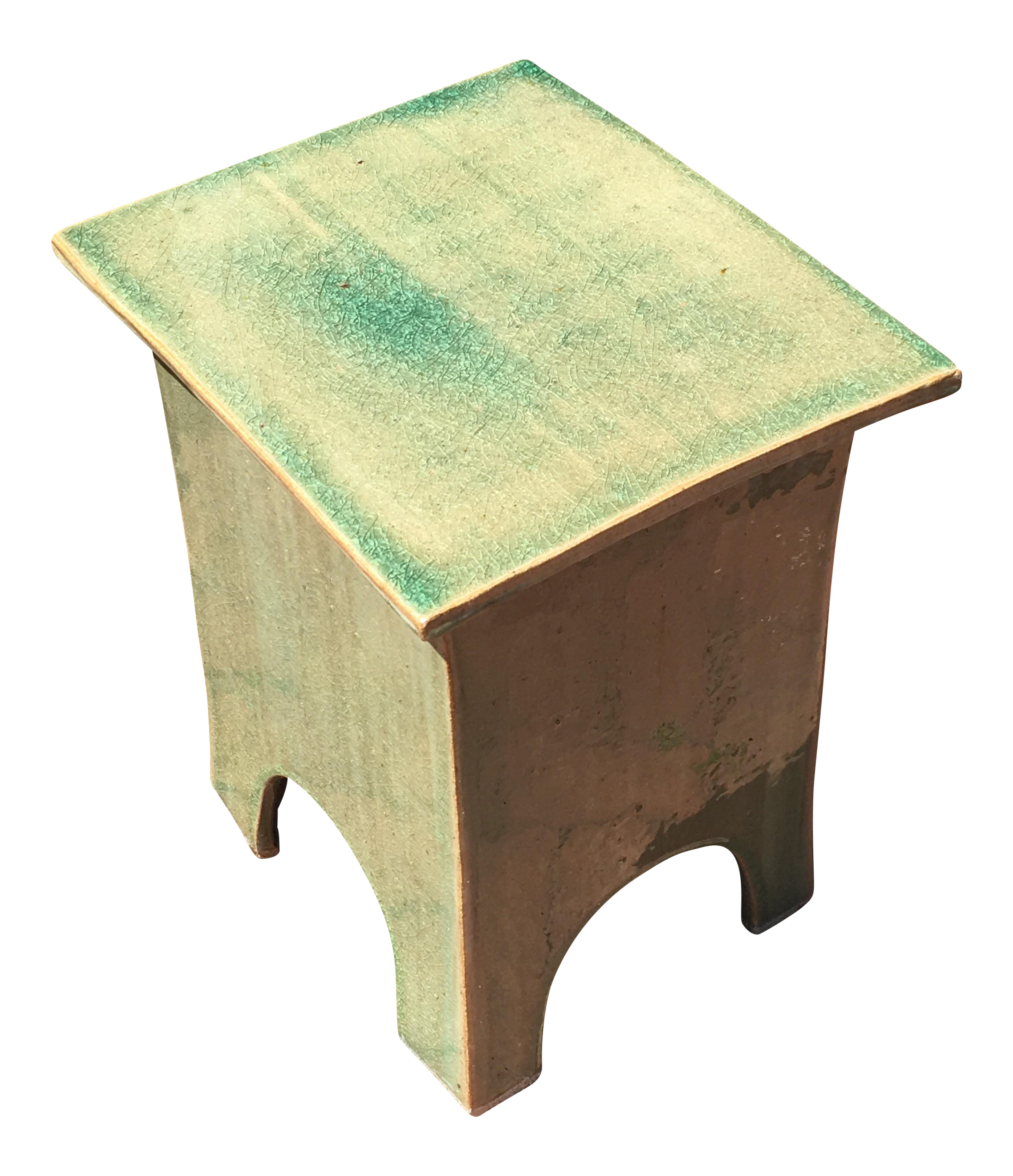 asian inspired indoor outdoor side table chairish indooroutdoor yellow accent sauder harbor view shaped office desk leather chairs reclaimed wood round narrow console with shelves