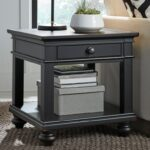 aspenhome oxford one drawer end table with turned feet homeworld products color blk leg accent threshold furniture tables cordless bedside lights wooden centre designs glass top 150x150
