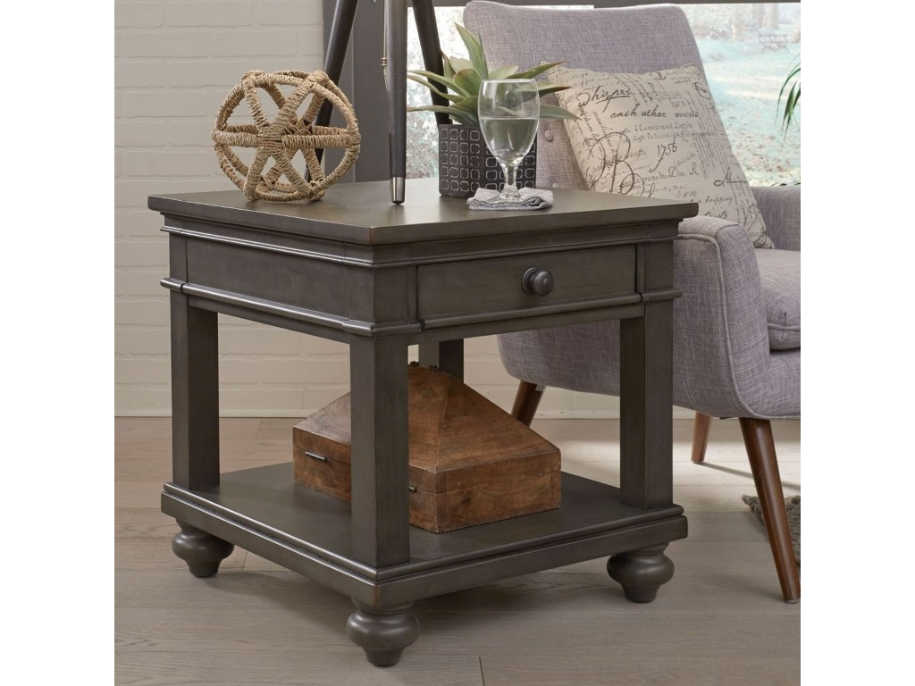 aspenhome oxford one drawer end table with turned feet wayside products color pep wood accent threshold oxfordend cube tables living room pier home design janika fire pit cover