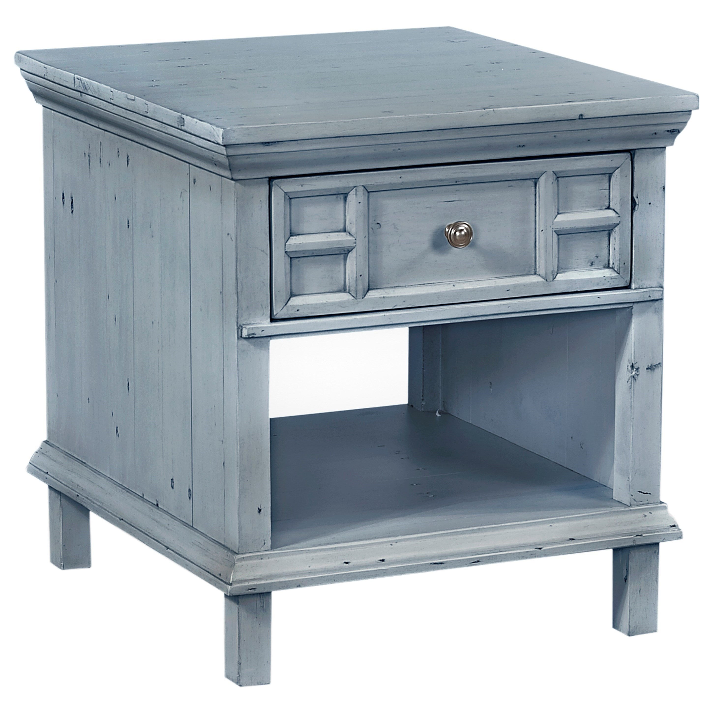aspenhome preferences end table with drawer and shelf wayside products color sbl fretwork accent blue outdoor drum side cylinder magazine turquoise dresser diy sofa white tray
