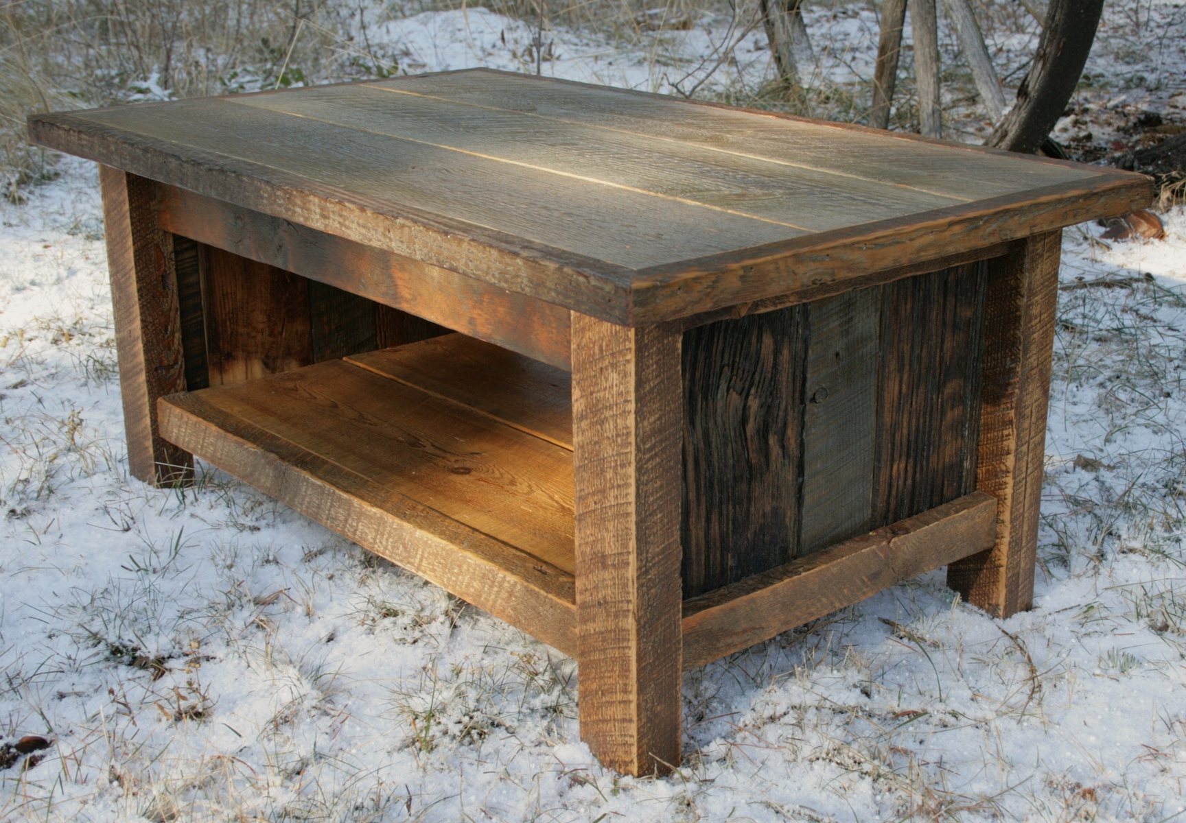 astonishing reclaimed wood coffee table rustic sets solid outdoor furniture rectangle walnut beveled top well light oak end with drawer threshold mirrored accent living room