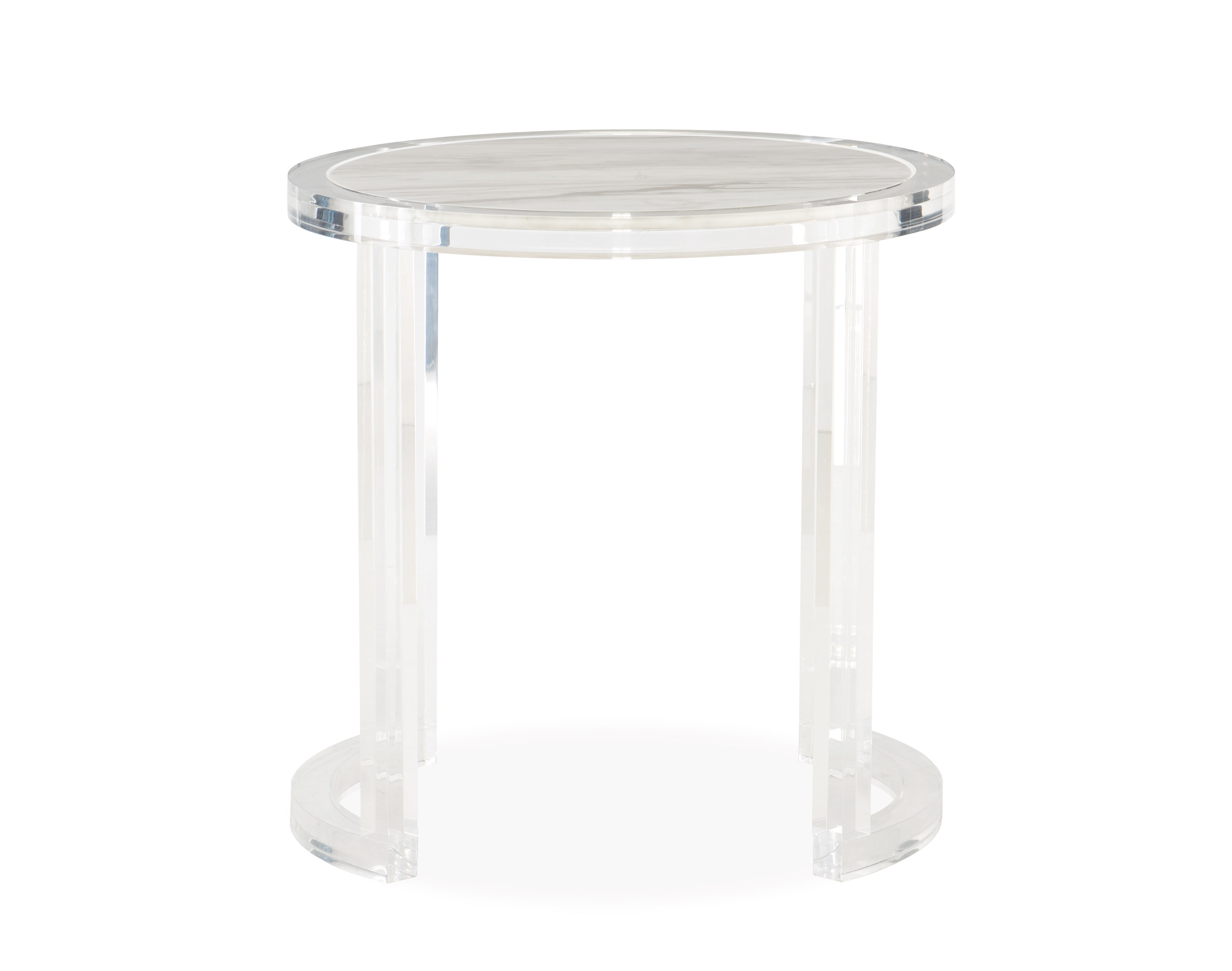 astra acrylic end table living room side accent tables bernhardt furniture robb stucky solid wood small stand steel legs essentials lamp semi circle modern black wrought iron