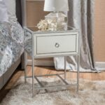 athena mirrored silver drawer side table bedroom faves accent tables with matching mirrors unique end modern round pedestal dining room patio umbrella pier one chairs nightstand 150x150