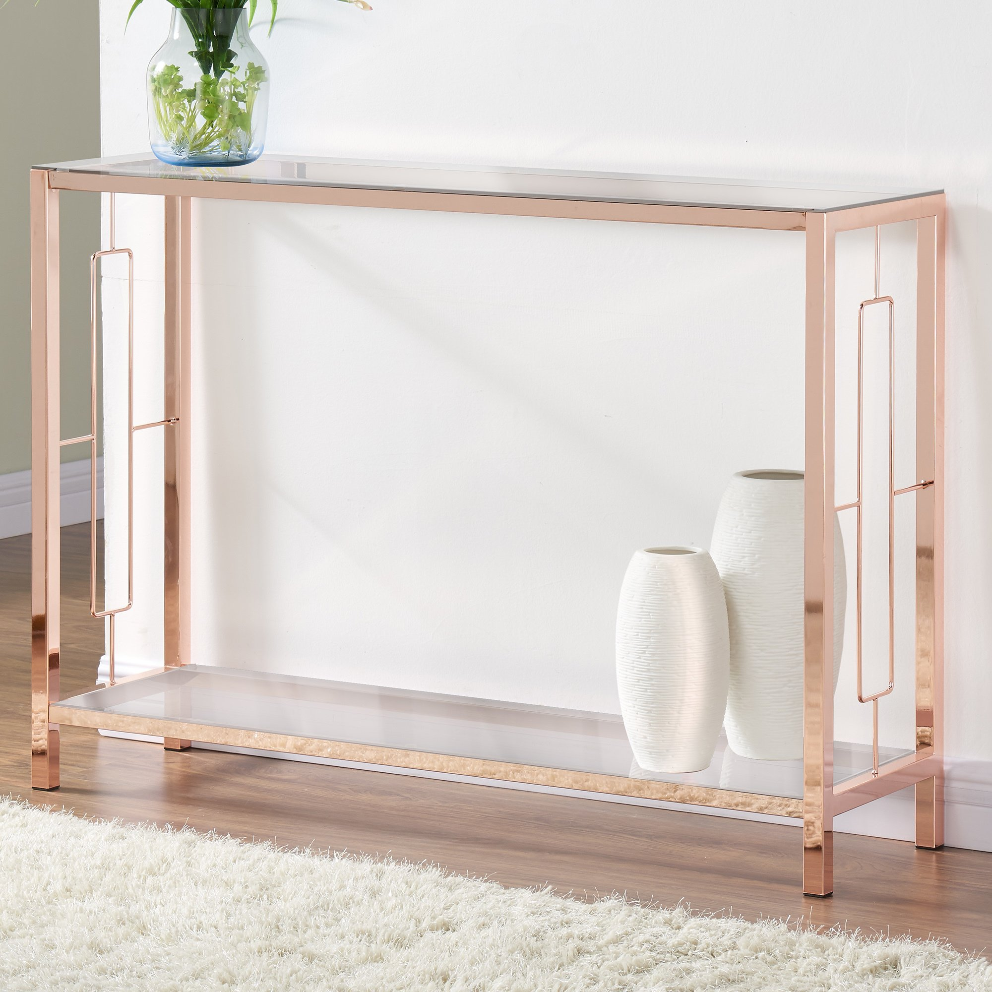 athena rose gold console table free shipping today accent circular patio cover square legs bohemian coffee pier imports round funky end tables tablecloth sliding barn door for
