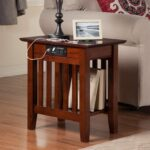 atlantic furniture houlton chair side table with charging station accent tables from chairsidetable round cloth wide nightstand pineapple lights glass stacking west elm outdoor 150x150