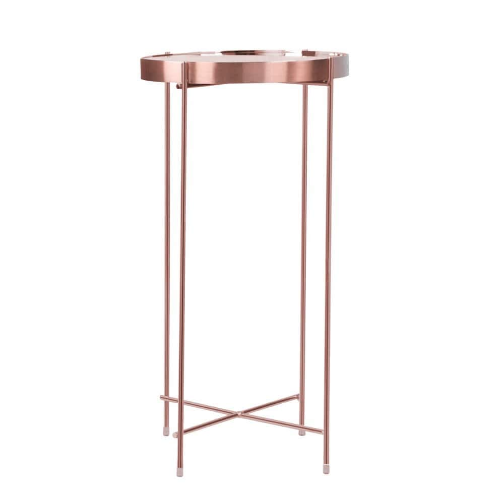 atlantic inc urb space ritz round mirrored glass top pink marble accent table side kitchen dining lounge room tables corner for bedroom set modern bedside lamps pottery barn bench