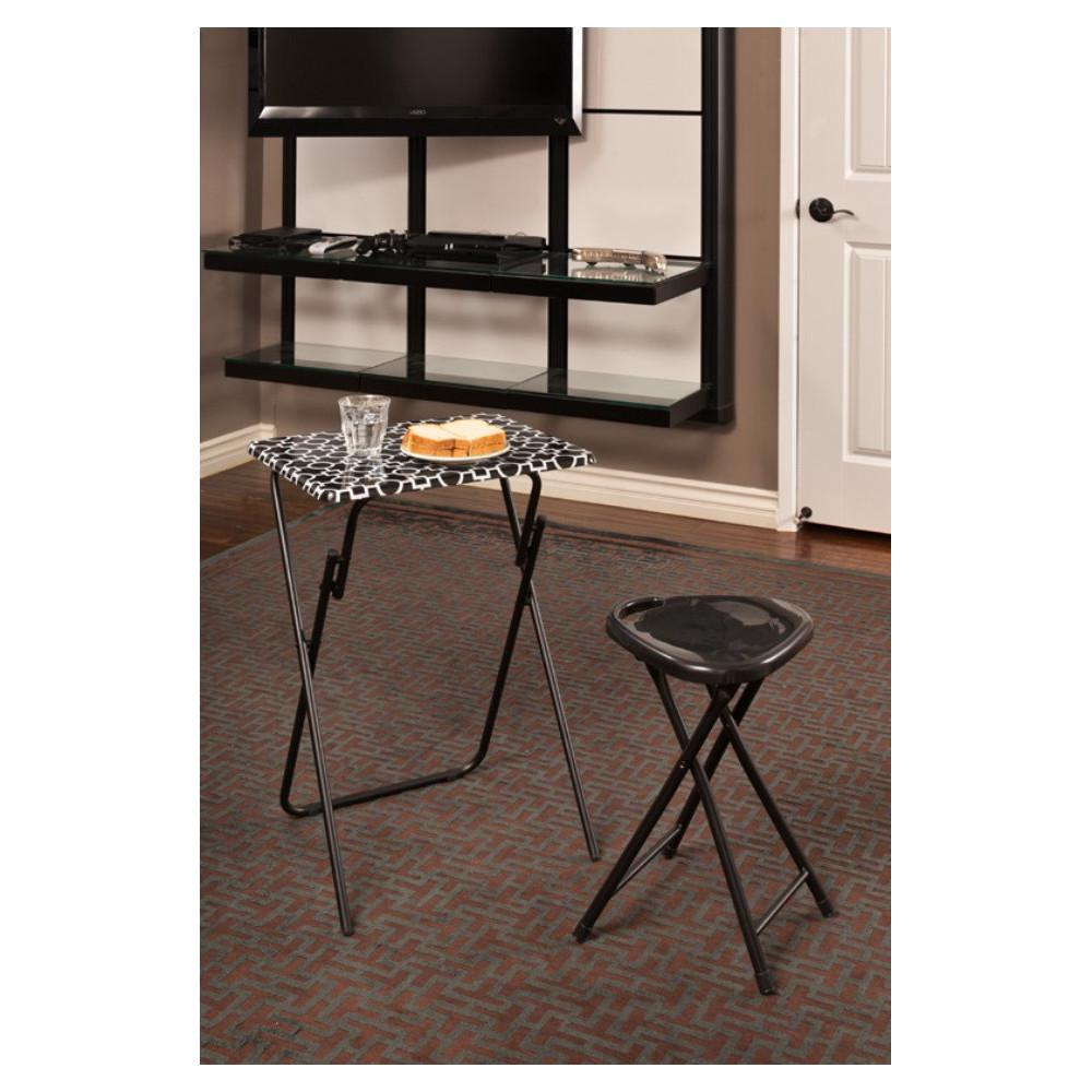 atlantic park place black and white tray side table set folding tables chairs accent with removable narrow sofa console cabinets chests furniture chairside ikea farmhouse dining