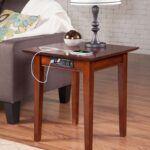 atlantic shaker end table with charger walnut accent usb plastic garden furniture affordable bedside tables small nightstand lamps room and board rugs tro themed vintage coffee 150x150