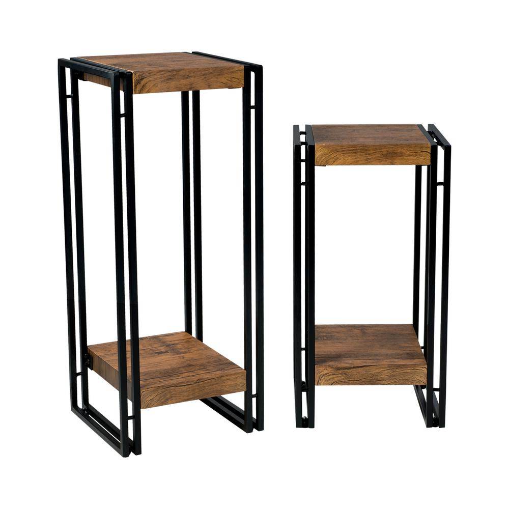 atlantic urb space black accent tables wood laminate end set modern table small oak coffee bath and beyond gift registry large mirrored bedside chair cover factory cute bar stools