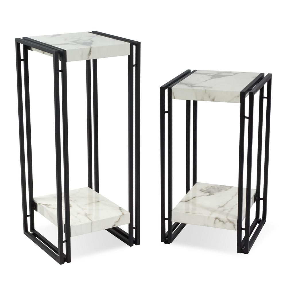 atlantic urban marble accent table set the end tables white homemade unfinished pine top small bedside lamp shades bunnings swing chair folding glass tablet eagle pulaski sofa
