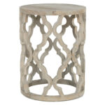 attractive accent end table with pedestal round amp tables wood column magnussen home wolf white outdoor setting high bar kitchen small night patterned armchair black and marble 150x150