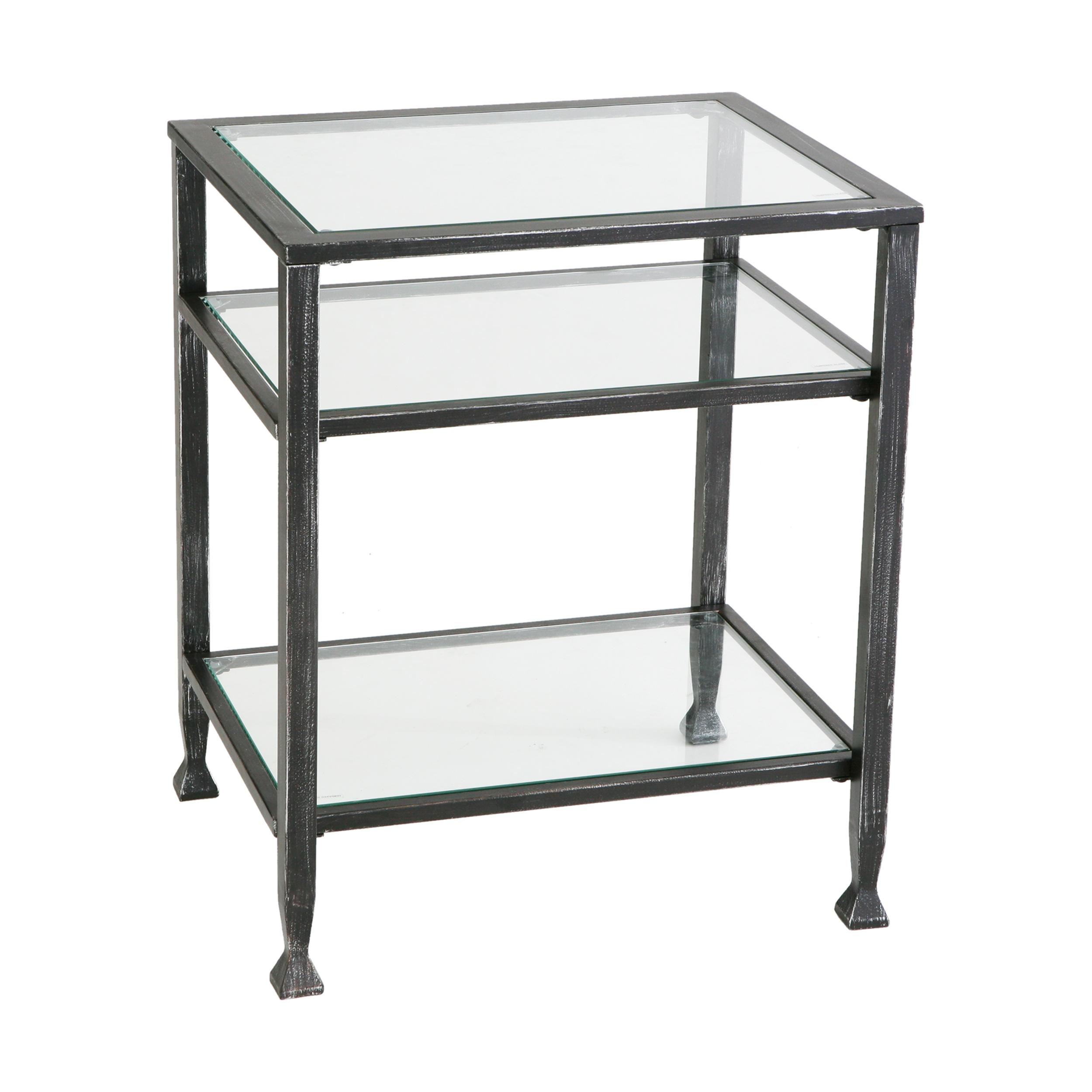 attractive metal end tables with regard vintage industrial rustic southern enterprises bunching glass side table knurl nesting accent set two steel and stand jeannerapone hall