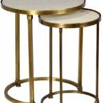 audrey marble and antiqued brass side table set mortise tenon round vintage bronze hourglass accent pier mirrored furniture west elm purple placemats napkins outside cover pouf 150x150
