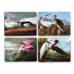 audubon vintage birds mats and coasters placemats table accent placemat accents tabletop scullyandscully mid century small triangle bathroom styles ikea square clearance tiffany 150x150