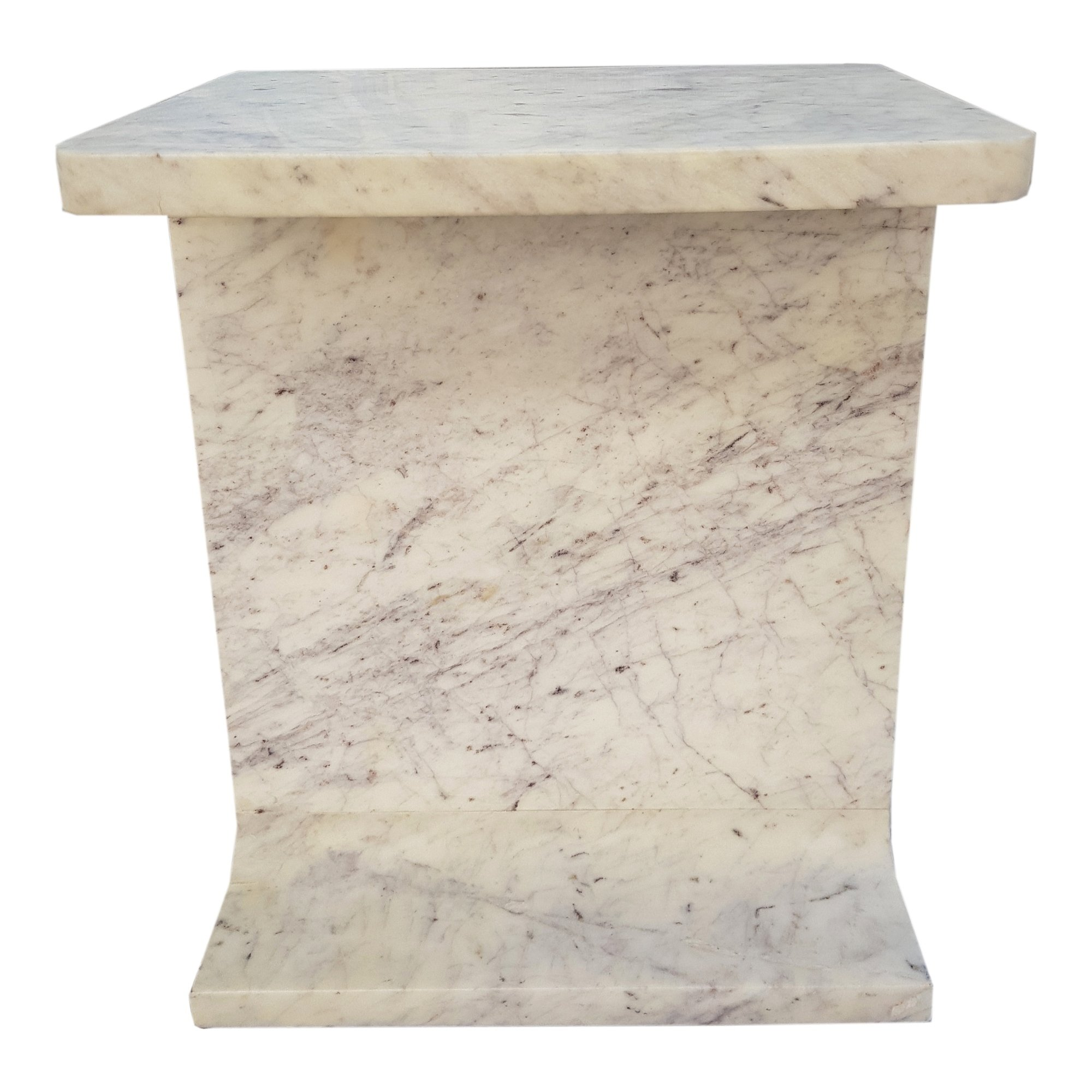 aurelle home modern white marble accent table free outdoor tables shipping today screw furniture legs black wrought iron decorative cabinets for living room dark wood side gold