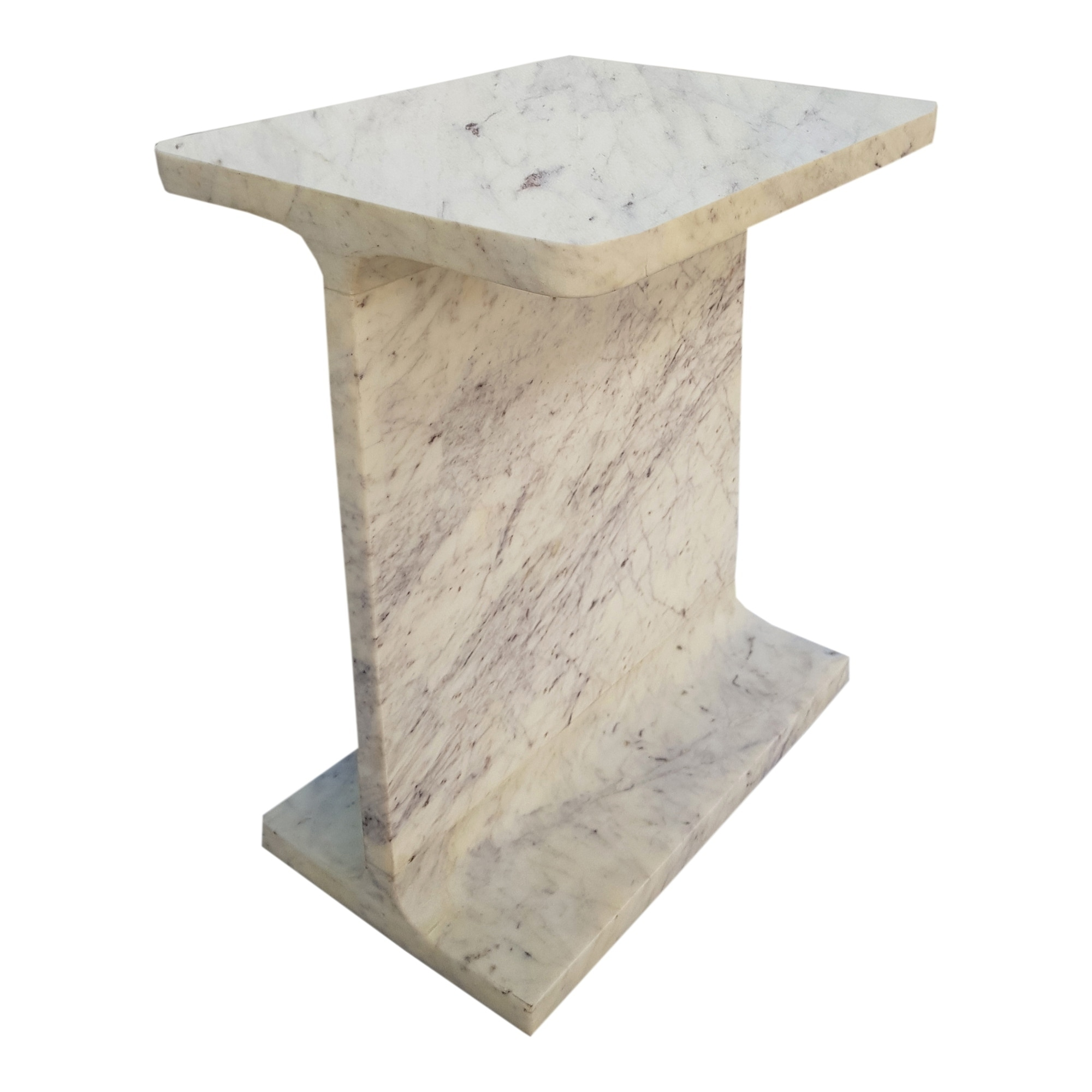 aurelle home modern white marble accent table free pedestal shipping today distressed round side light shades kitchen chair cushions with ties height outdoor patio tables