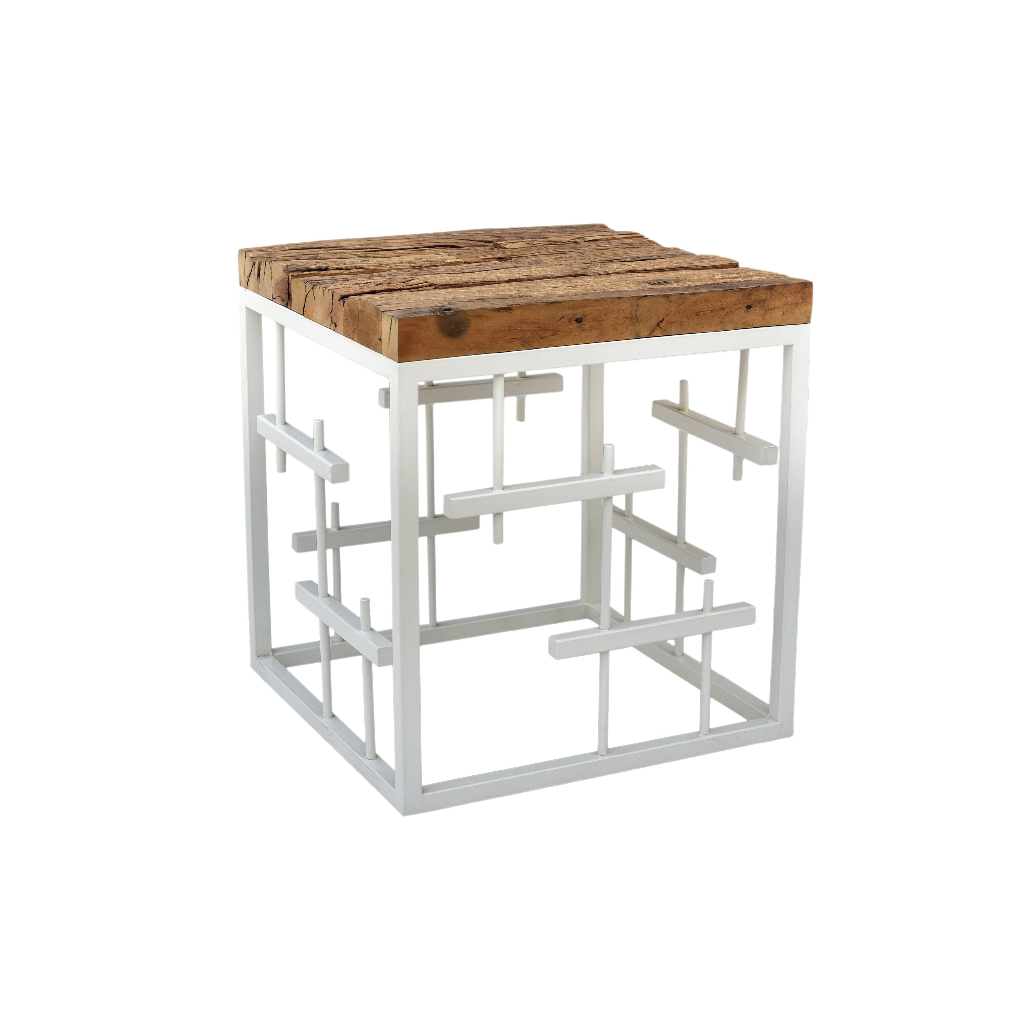 aurelle home rustic modern white solid wood accent table oak tables free shipping today unique coffee designs slim console with storage pub bar height mosaic dining and chairs usb