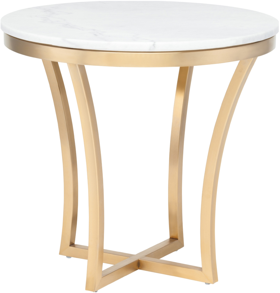 aurora side table gold white marble accent and clear acrylic sofa wood mirrored cube half round hall night stands inch cloth tablecloths tall skinny coffee tray dinner centerpiece