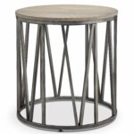avalon modern weathered white oak round accent end table free shipping today set tables nest ethan allen ballan asian porcelain lamps west elm storage bench side designs with 150x150