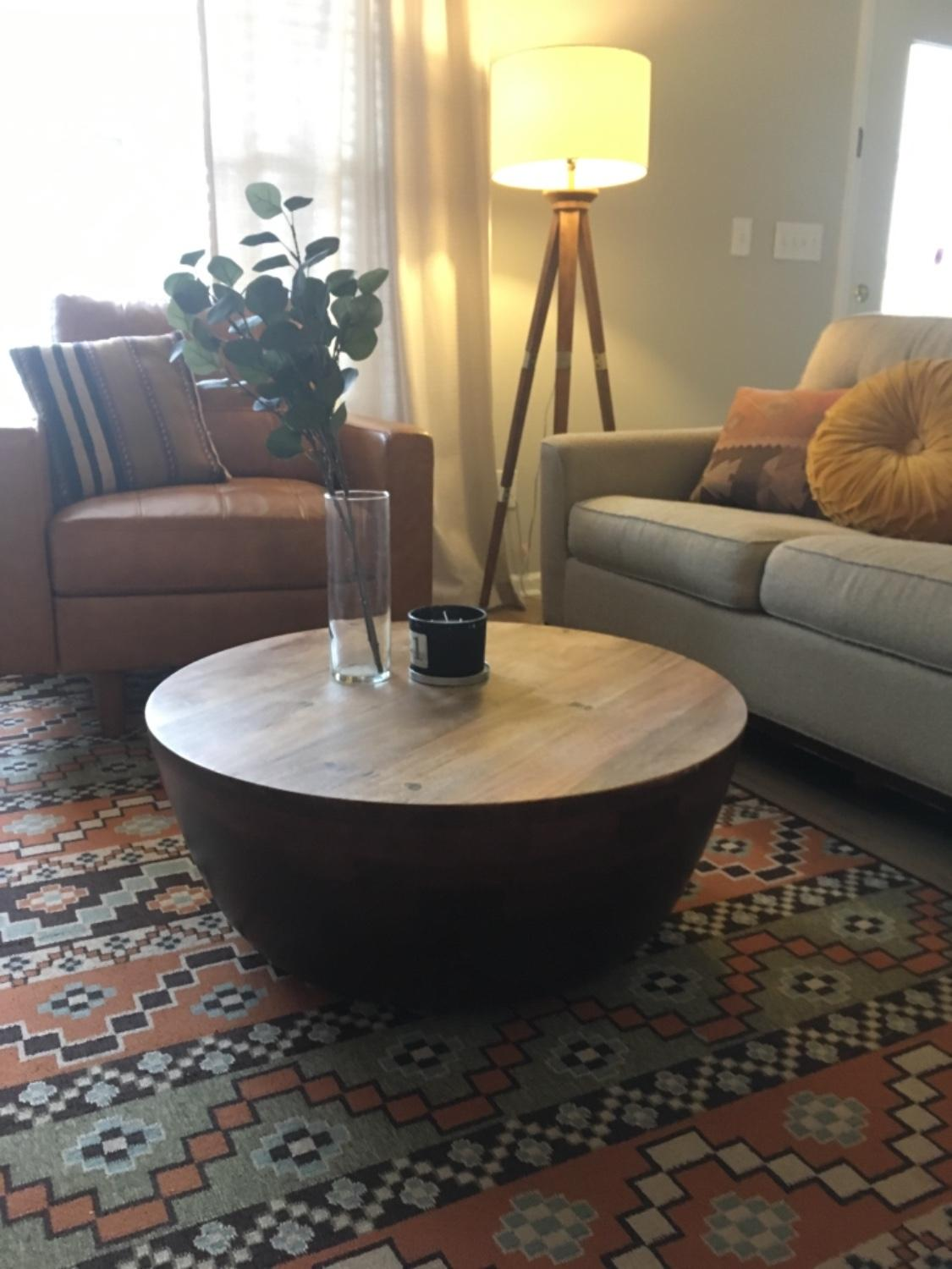 avani coffee table pier imports drum accent desk lamp teak driftwood threshold chair side cream bedside tables nautical globe lights bar style tennis rubber entryway home goods