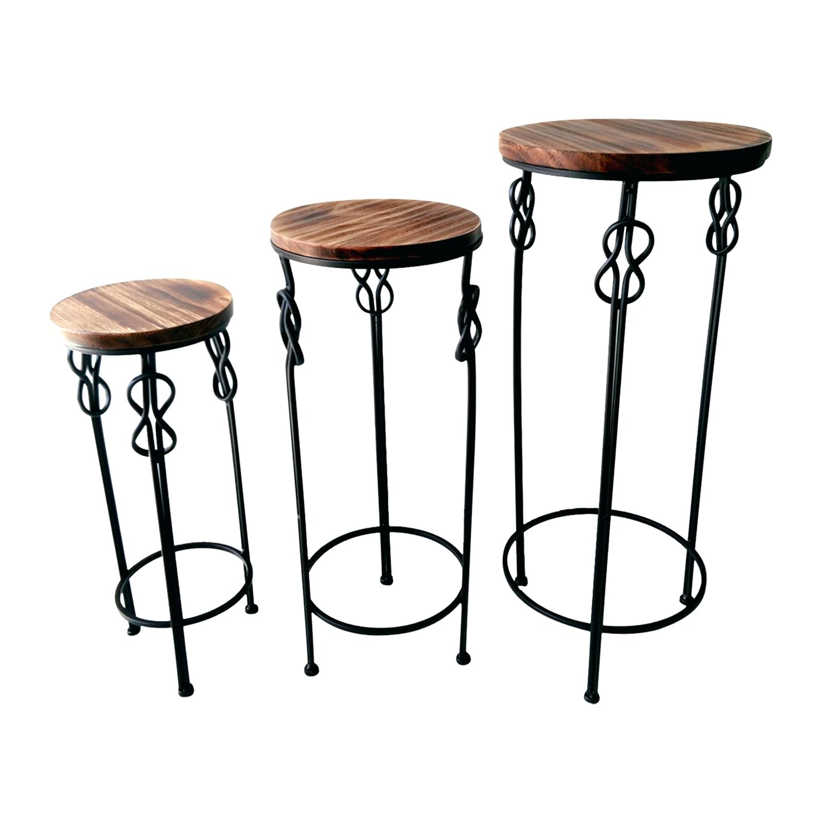 avani mango table sbud wood accent medium round amp steel knot drum all glass coffee entryway patio dark brown metal end base next living room furniture piece threshold rustic