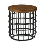 avani mango table sbud wood accent studio rustic industrial style antique black textured finished metal distressed tables drum wooden chocolate brown end orange bedside lamp round 150x150
